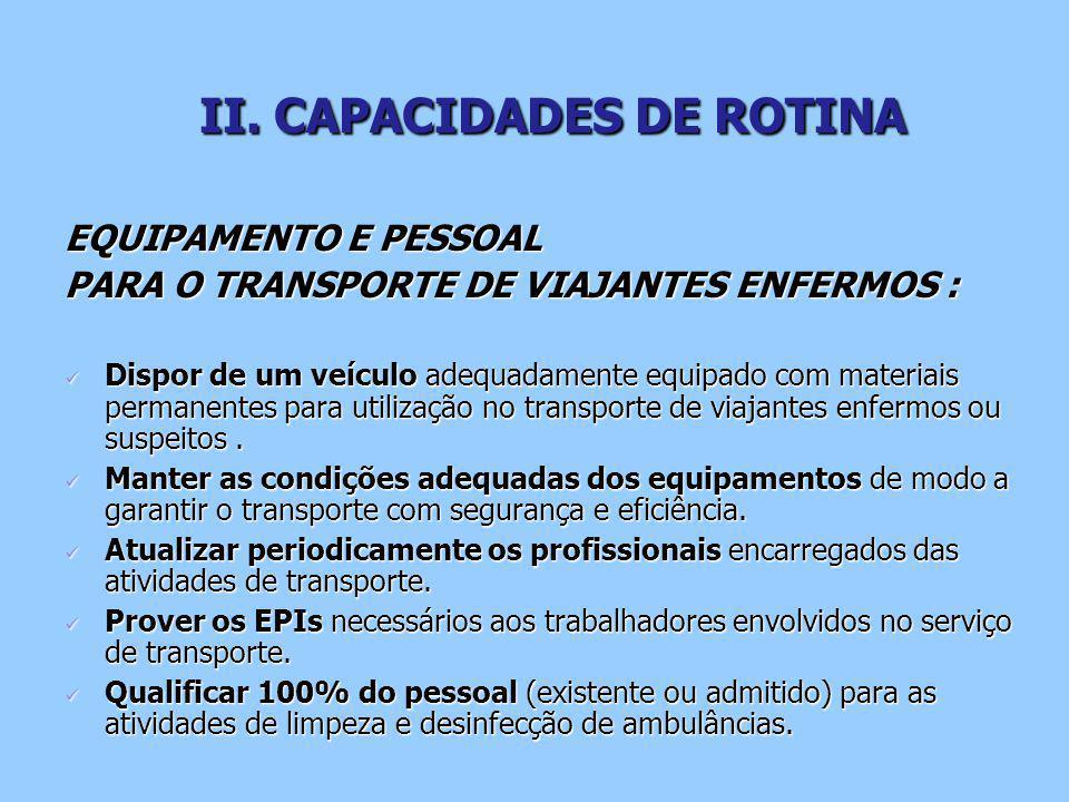 II. CAPACIDADES DE ROTINA