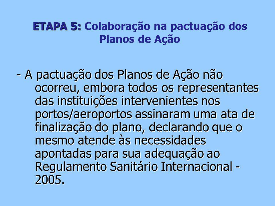 ETAPA 5: Colaboração na pactuação dos Planos de Ação