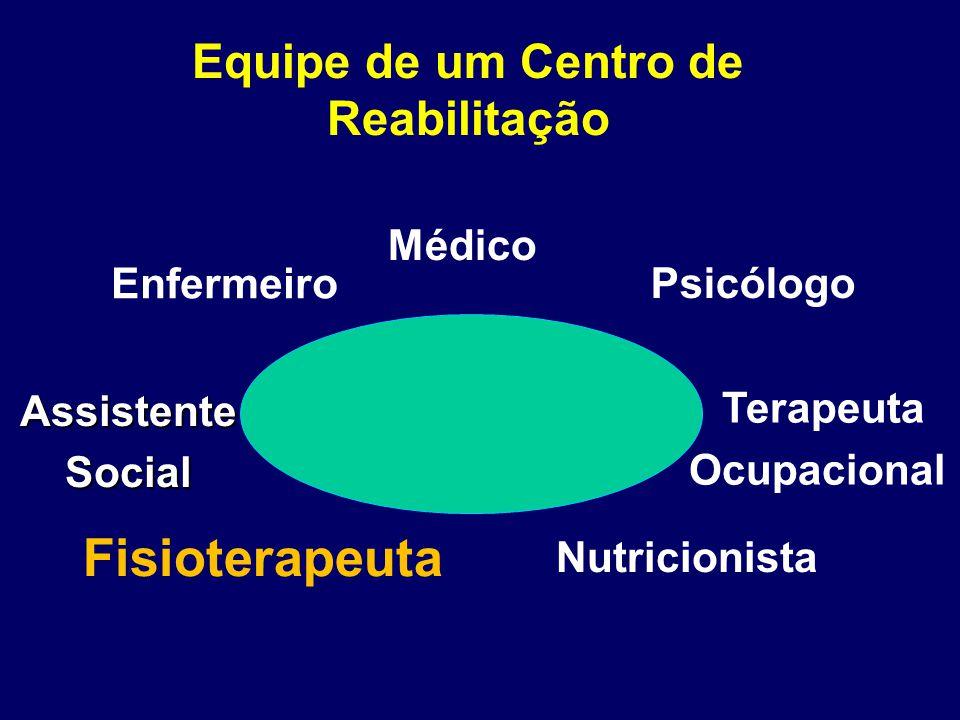 Equipe de um Centro de Reabilitação Terapeuta Ocupacional