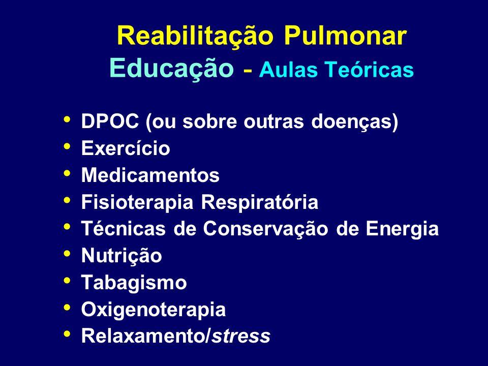 Reabilitação Pulmonar Educação - Aulas Teóricas