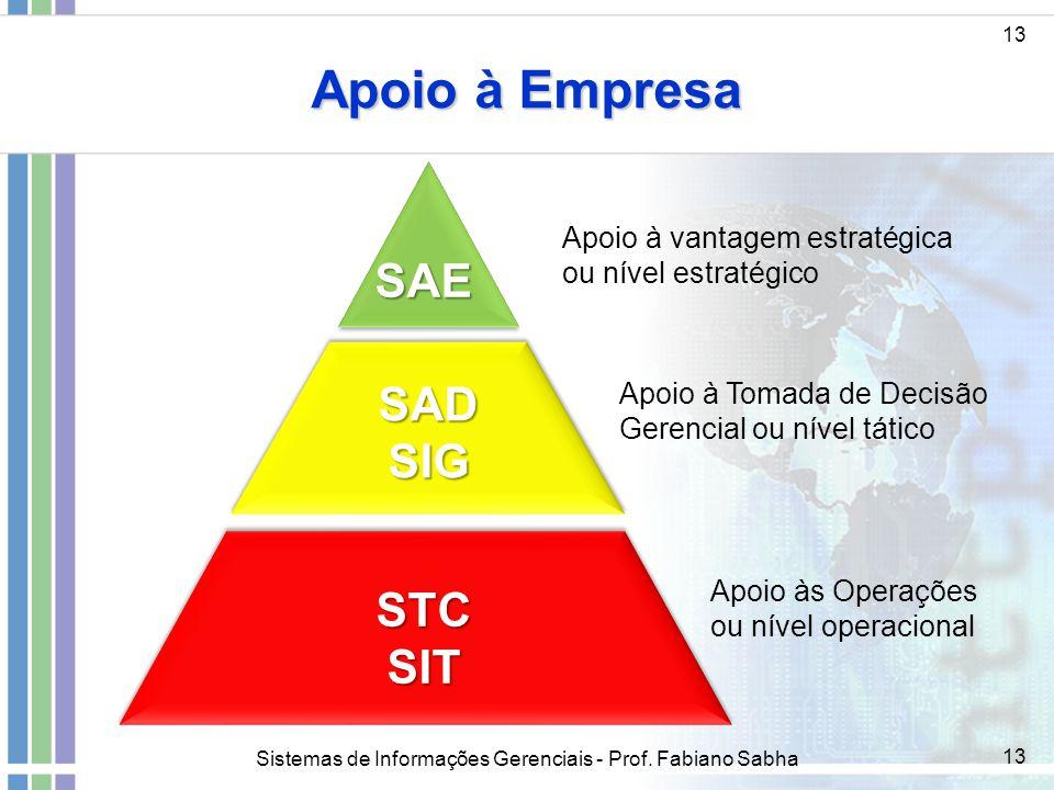 Apoio à Empresa SAE SAD SIG STC SIT Apoio à vantagem estratégica
