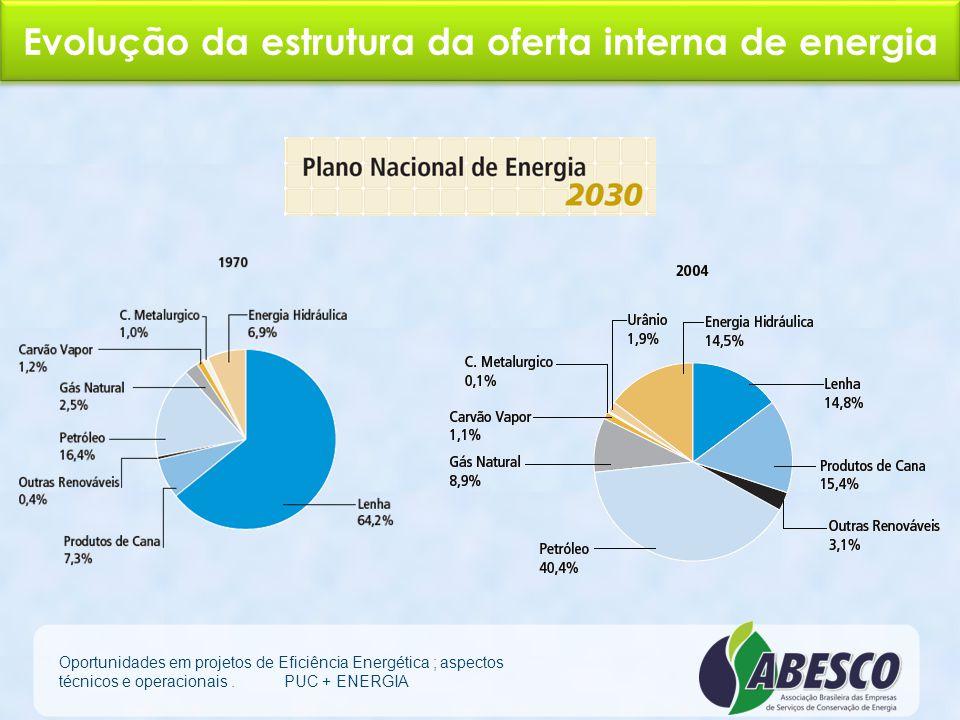 Evolução da estrutura da oferta interna de energia