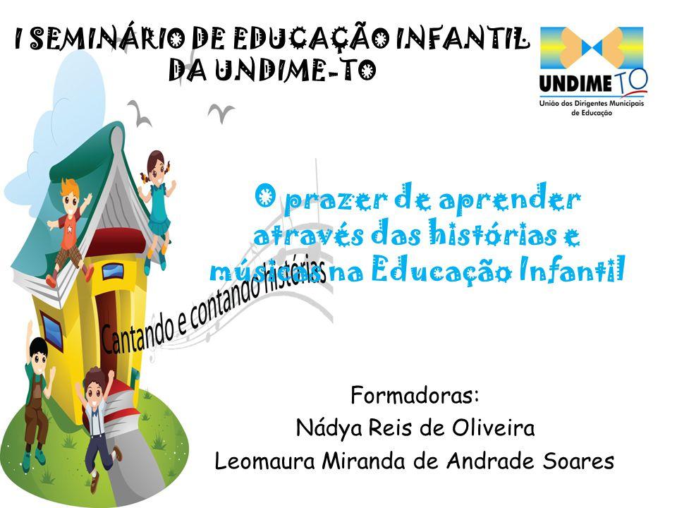 Formadoras: Nádya Reis de Oliveira Leomaura Miranda de Andrade Soares
