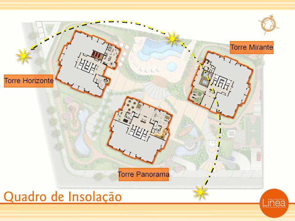 Torre Mirante Torre Horizonte Torre Panorama Quadro de Insolação