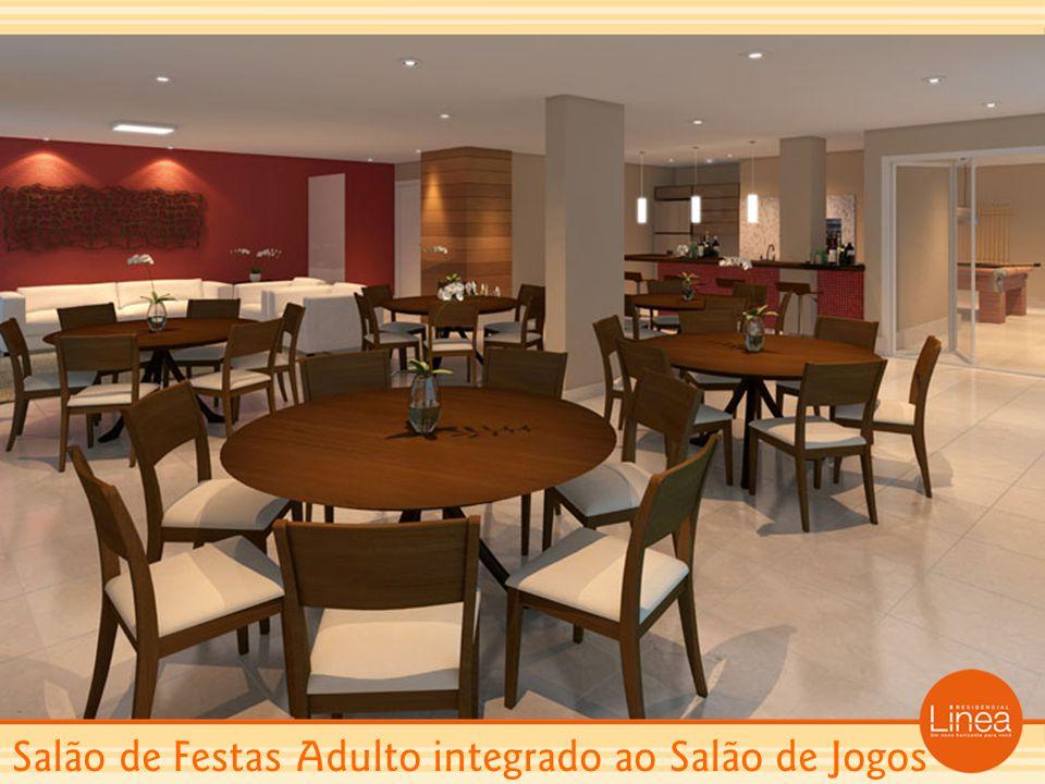 Salão de Festas Adulto integrado ao Salão de Jogos