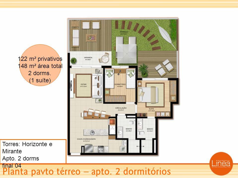 Planta pavto térreo – apto. 2 dormitórios