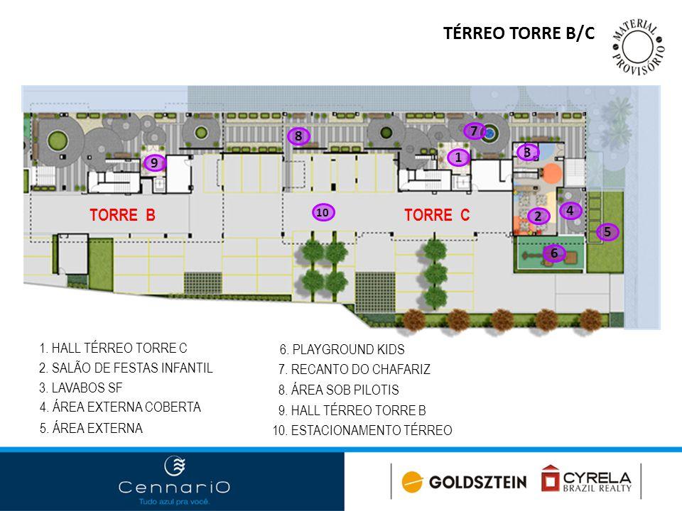 TÉRREO TORRE B/C TORRE B TORRE C 7 8 3 1 9 4 2 5 6