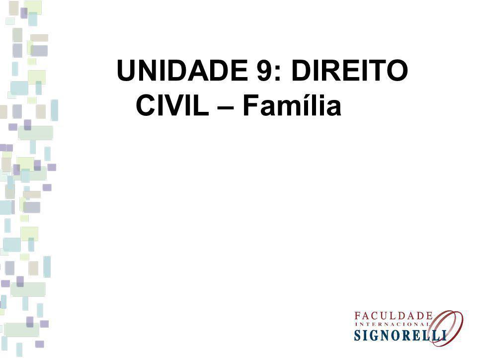 UNIDADE 9: DIREITO CIVIL – Família