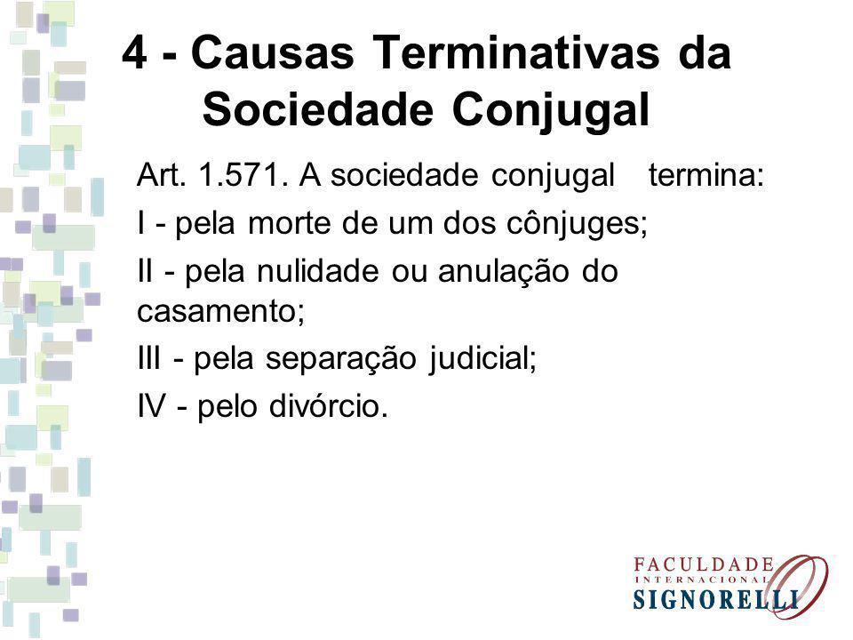 4 - Causas Terminativas da Sociedade Conjugal