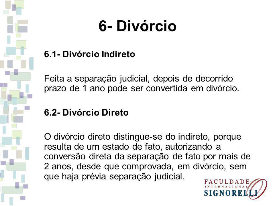 6- Divórcio 6.1- Divórcio Indireto