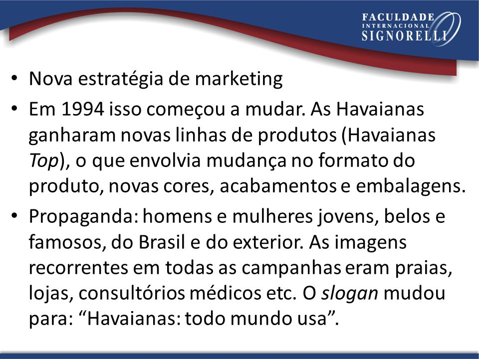 Nova estratégia de marketing