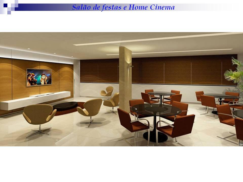 Salão de festas e Home Cinema