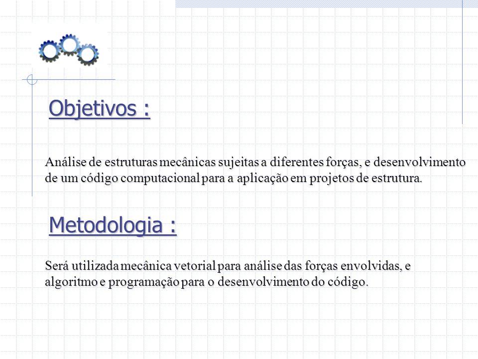 Objetivos : Metodologia :