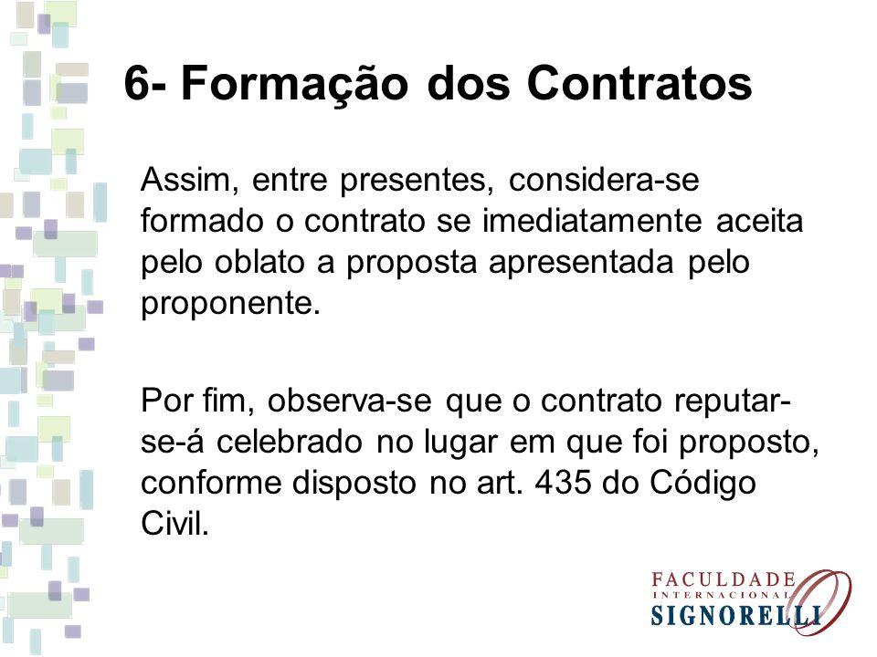 6- Formação dos Contratos