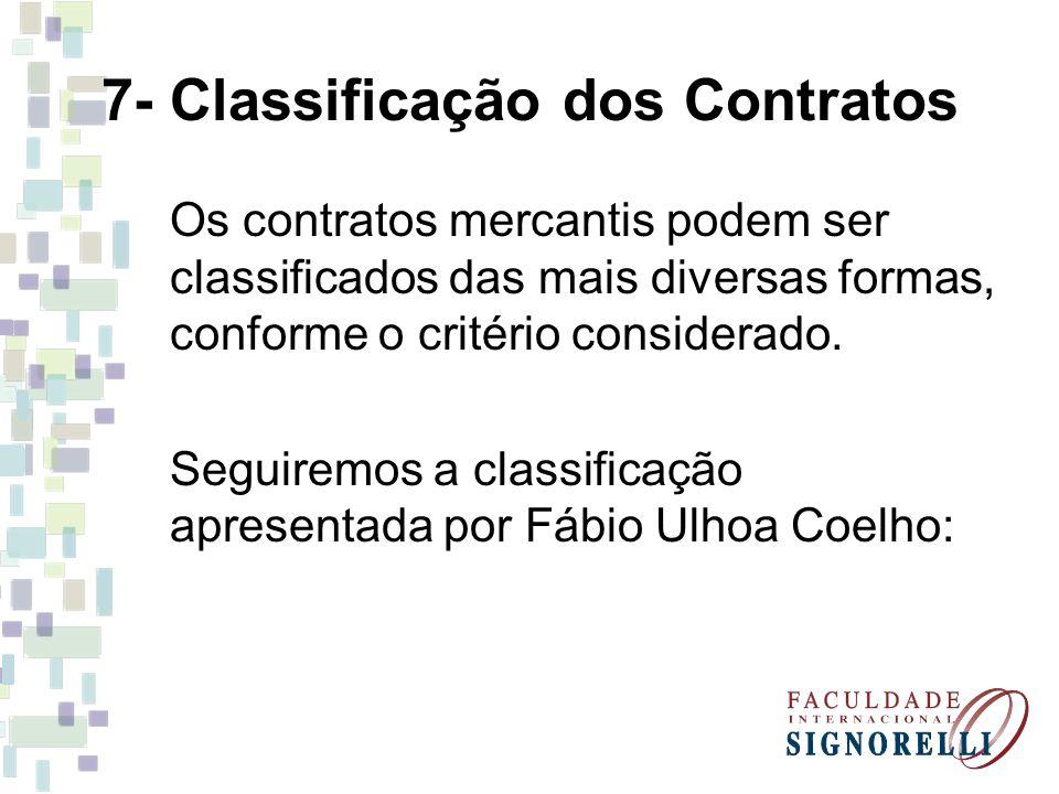 7- Classificação dos Contratos