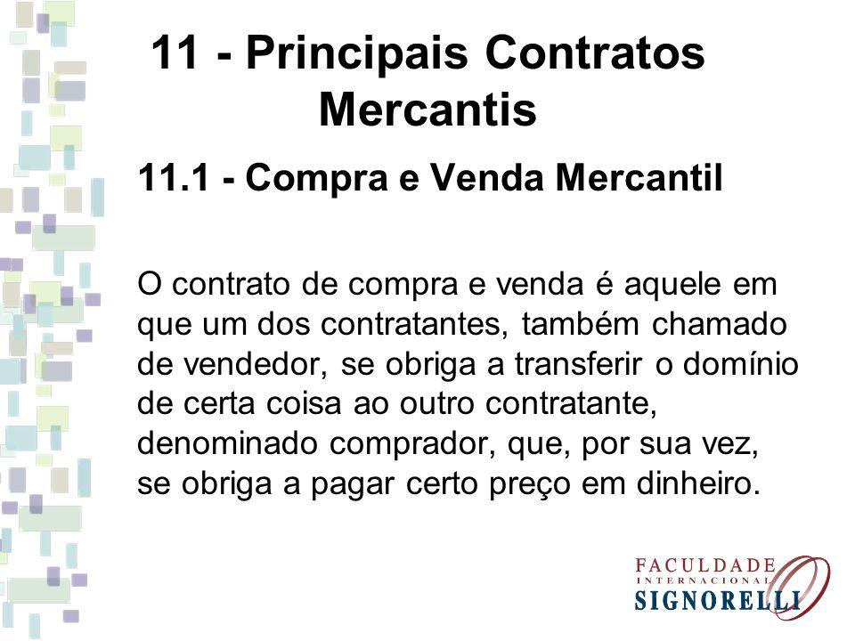 11 - Principais Contratos Mercantis