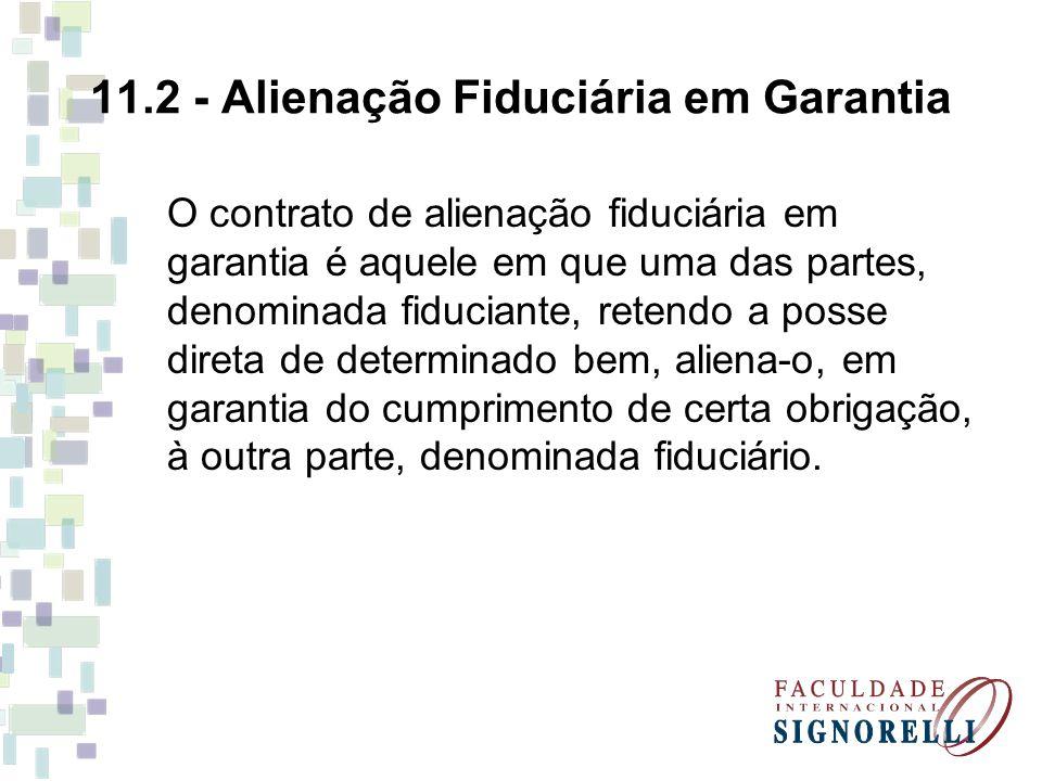 11.2 - Alienação Fiduciária em Garantia