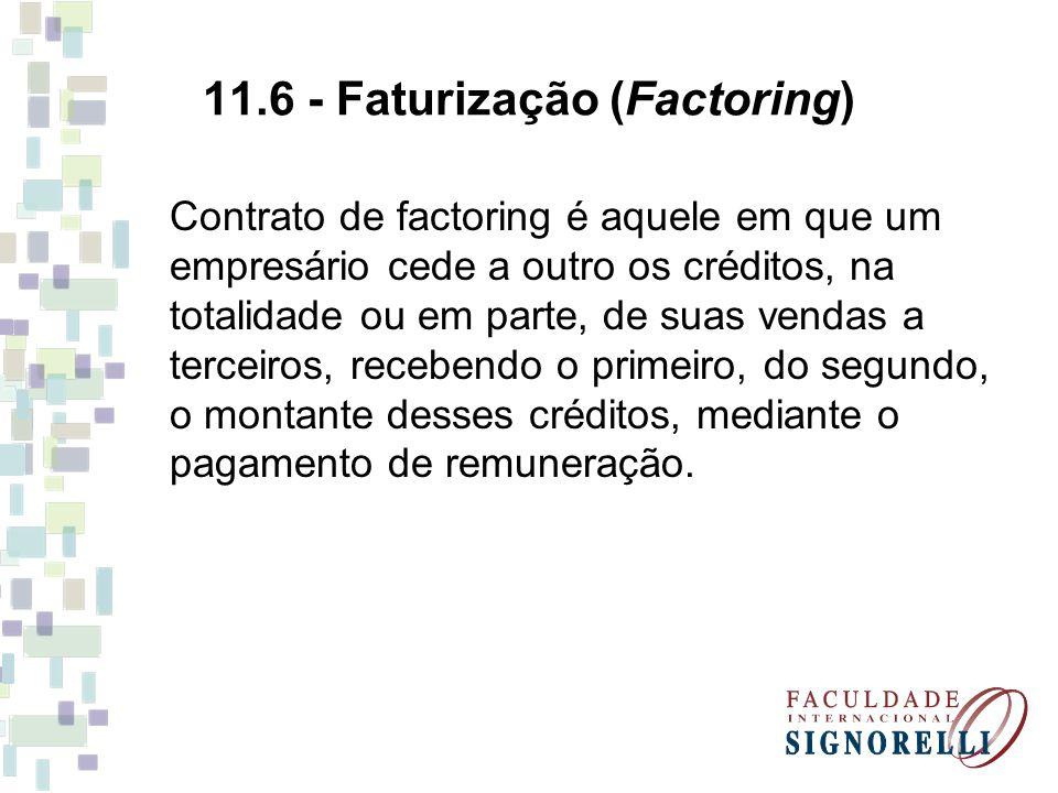 11.6 - Faturização (Factoring)