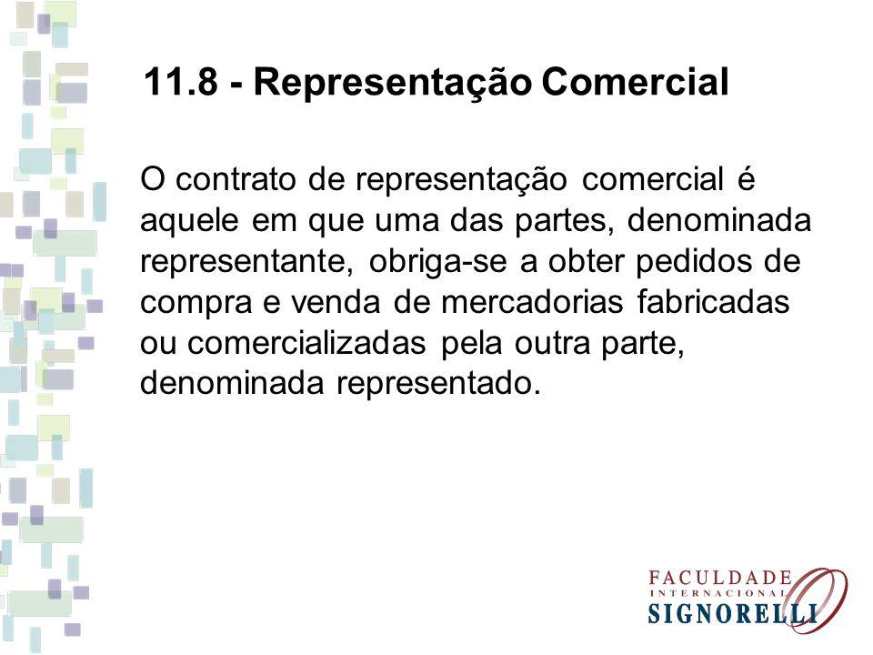 11.8 - Representação Comercial