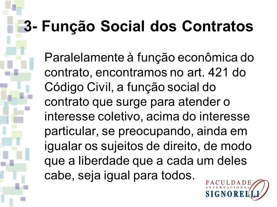 3- Função Social dos Contratos