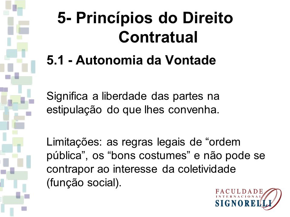 5- Princípios do Direito Contratual