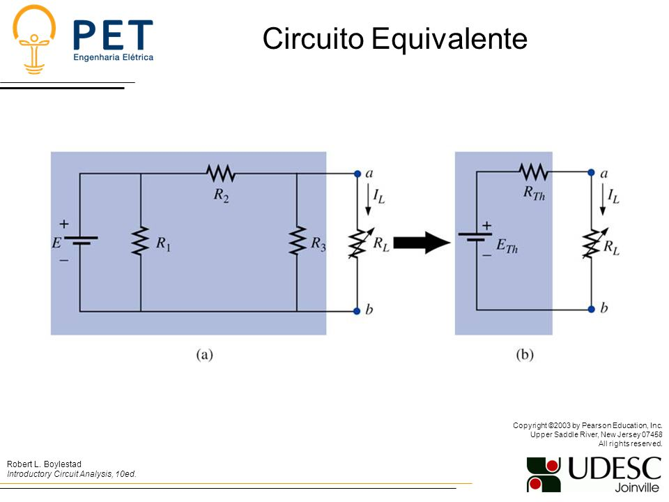 Circuito Equivalente Copyright ©2003 by Pearson Education, Inc. Upper Saddle River, New Jersey 07458 All rights reserved.