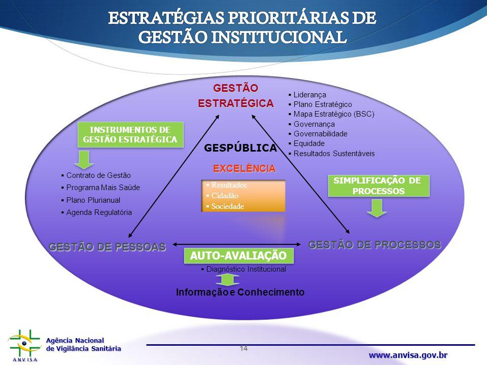 ESTRATÉGIAS PRIORITÁRIAS DE GESTÃO INSTITUCIONAL