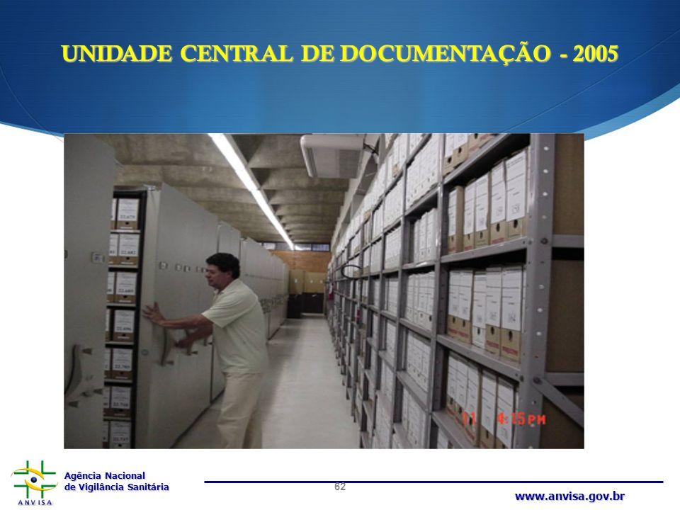 UNIDADE CENTRAL DE DOCUMENTAÇÃO - 2005