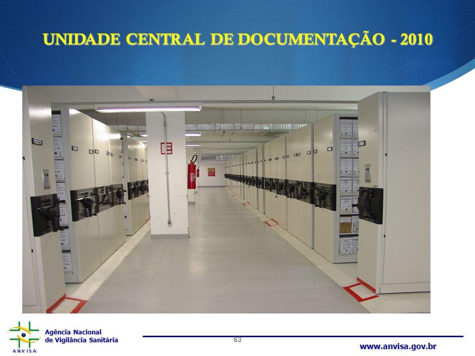 UNIDADE CENTRAL DE DOCUMENTAÇÃO - 2010