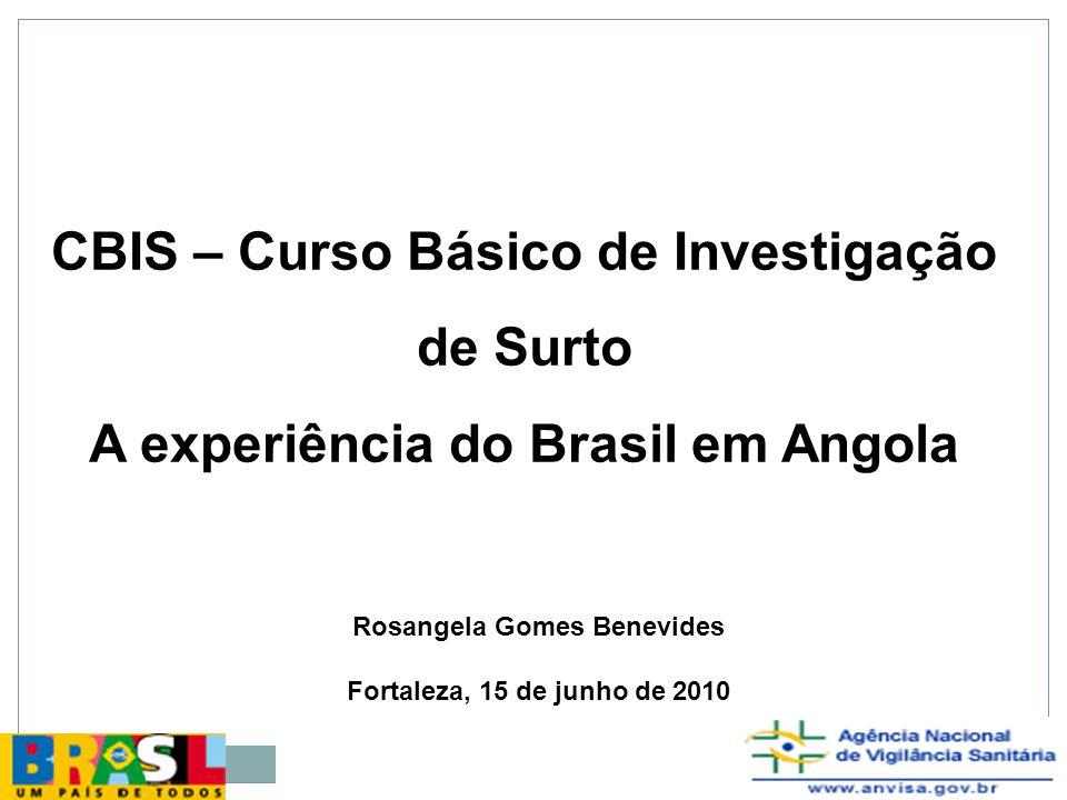 CBIS – Curso Básico de Investigação de Surto