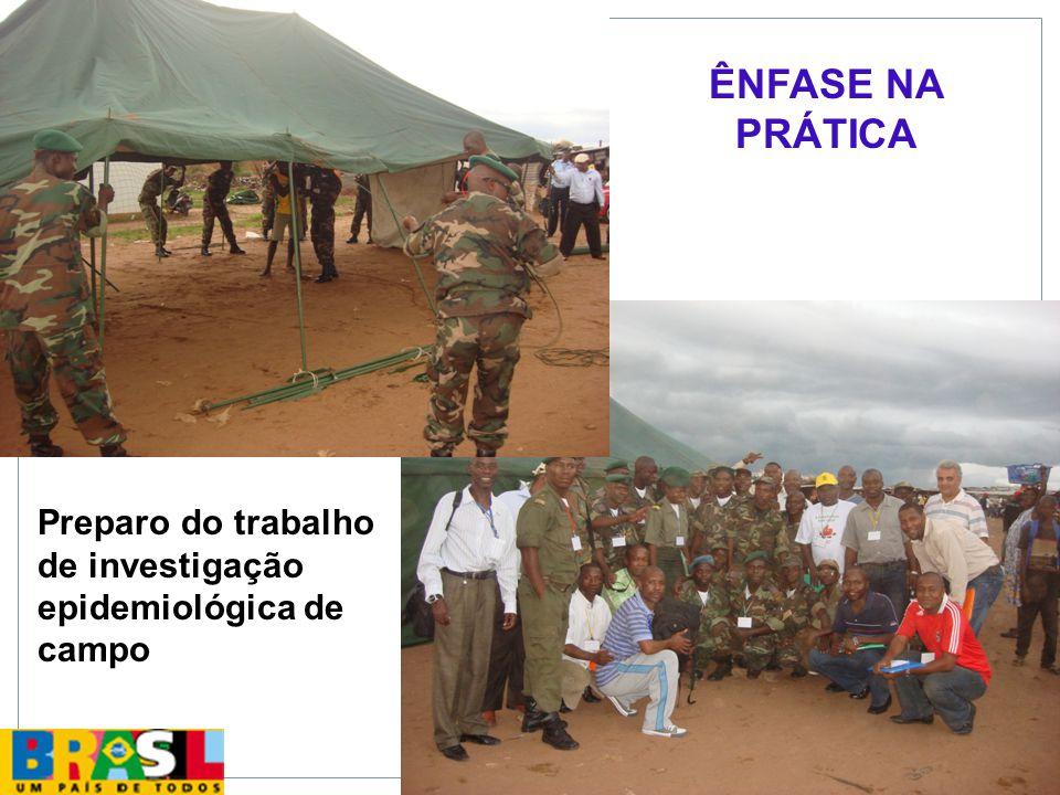 ÊNFASE NA PRÁTICA Preparo do trabalho de investigação epidemiológica de campo