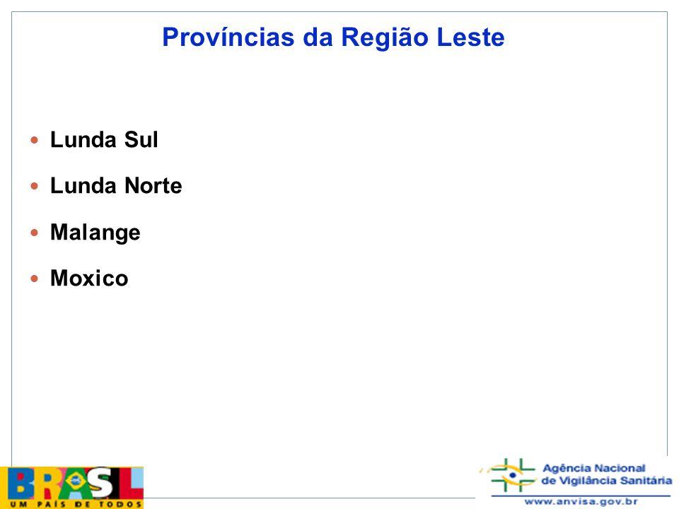 Províncias da Região Leste