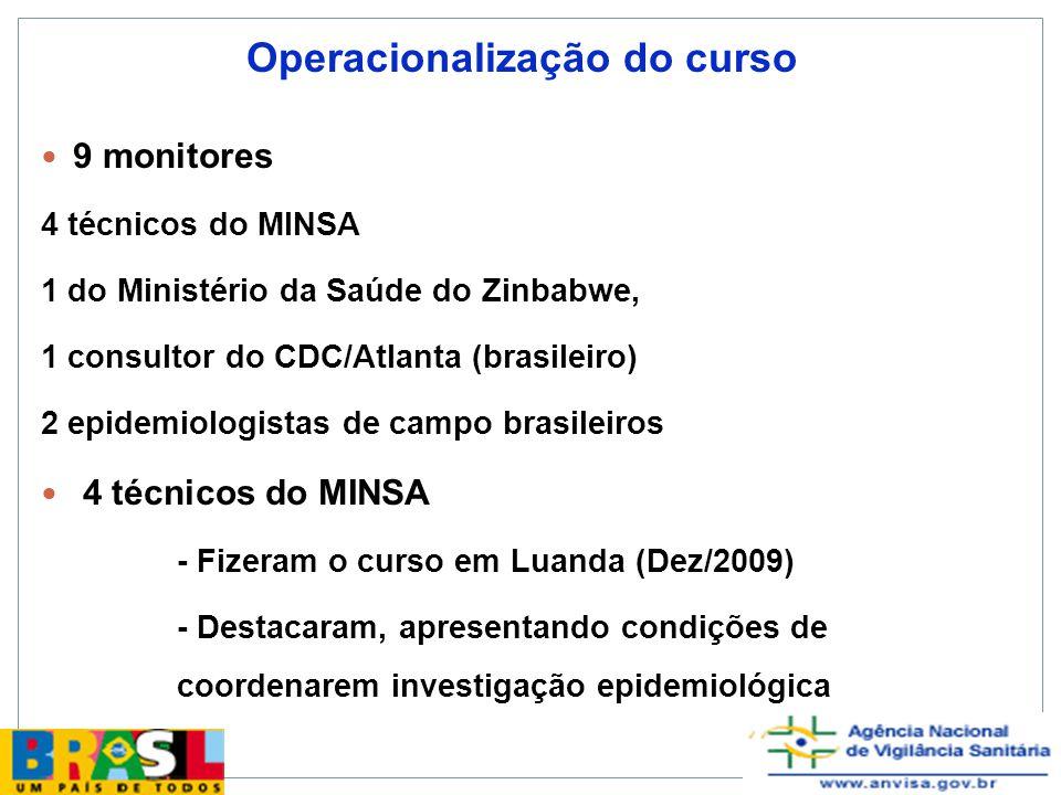 Operacionalização do curso