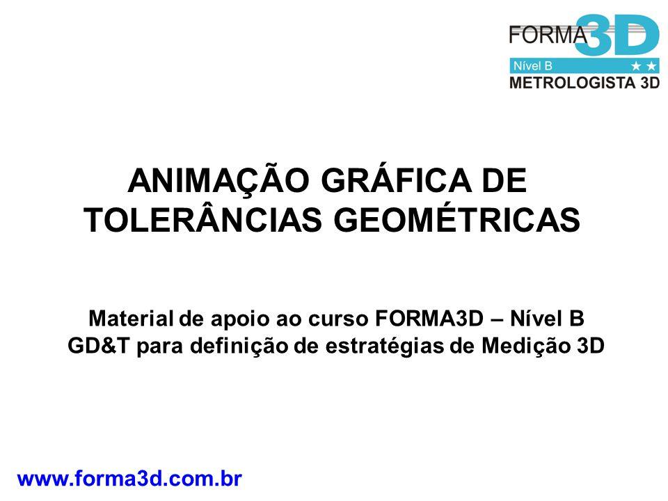 ANIMAÇÃO GRÁFICA DE TOLERÂNCIAS GEOMÉTRICAS