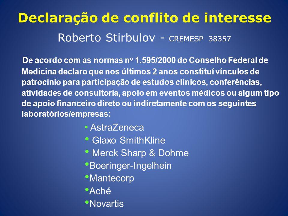 Declaração de conflito de interesse Roberto Stirbulov - CREMESP 38357