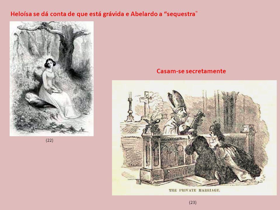 Heloísa se dá conta de que está grávida e Abelardo a sequestra