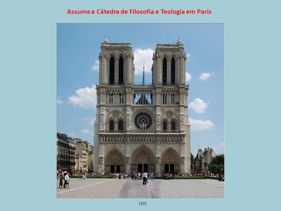 Assume a Cátedra de Filosofia e Teologia em Paris