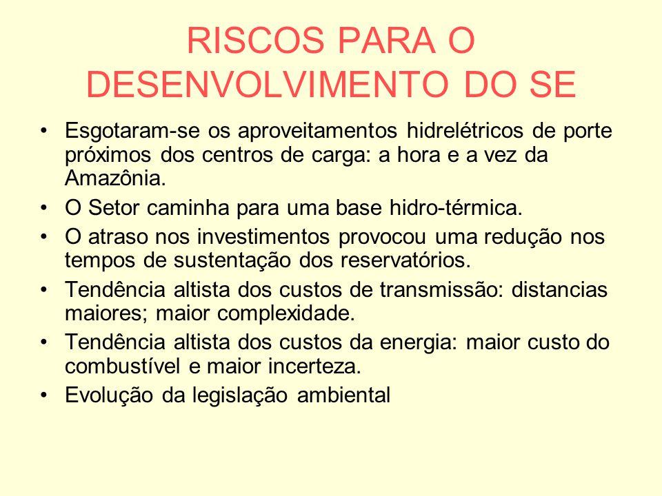 RISCOS PARA O DESENVOLVIMENTO DO SE