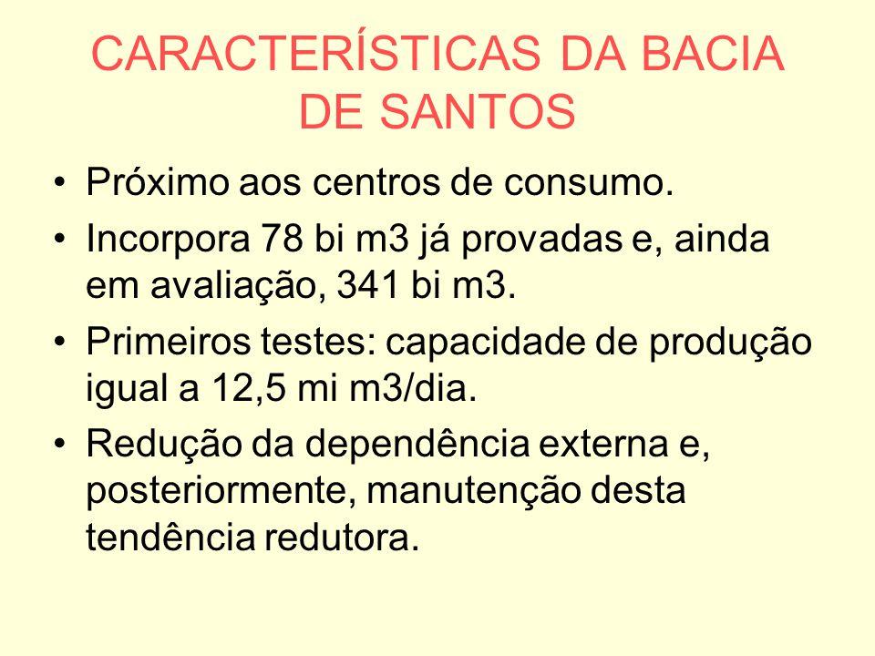 CARACTERÍSTICAS DA BACIA DE SANTOS