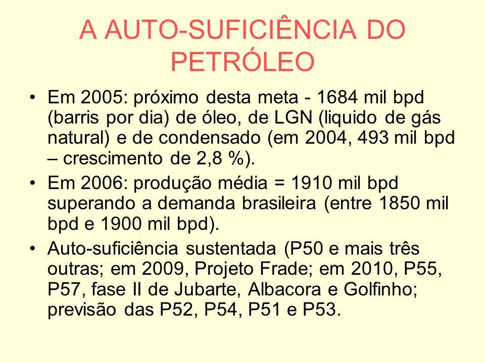 A AUTO-SUFICIÊNCIA DO PETRÓLEO