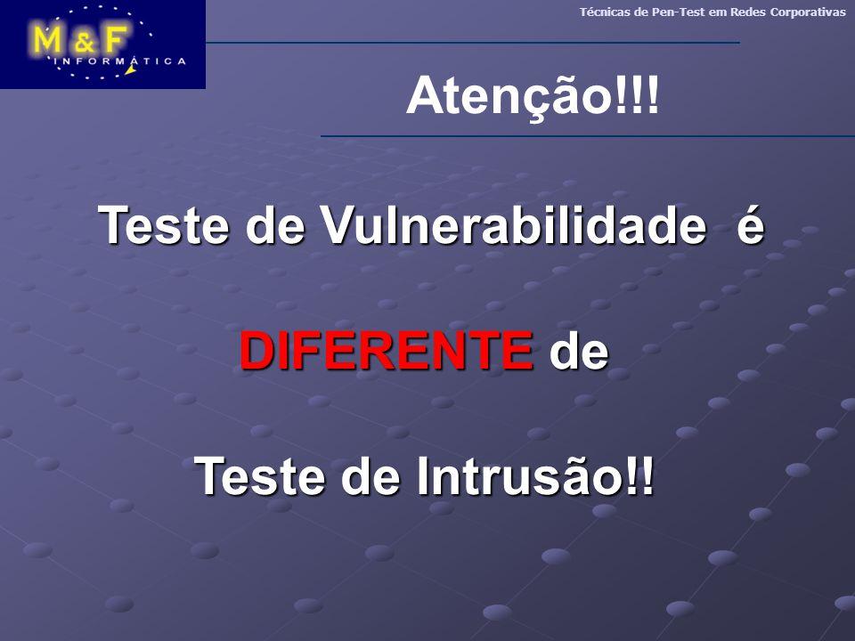 Teste de Vulnerabilidade é