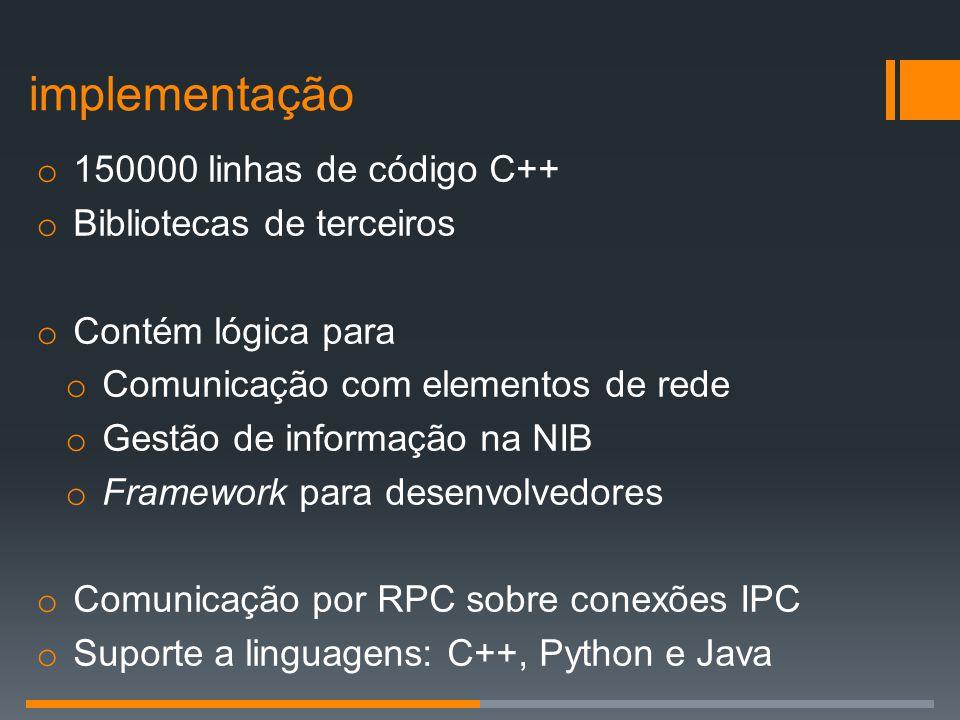 implementação 150000 linhas de código C++ Bibliotecas de terceiros