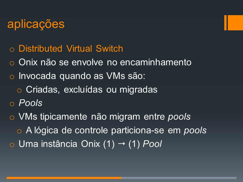aplicações Distributed Virtual Switch