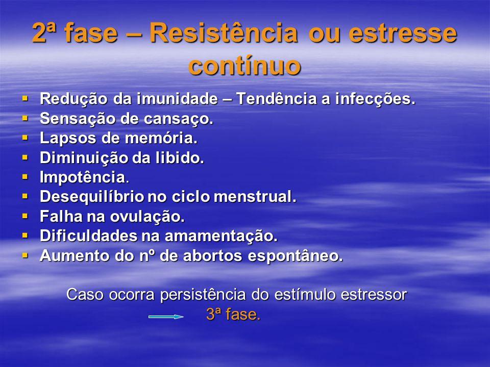 2ª fase – Resistência ou estresse contínuo