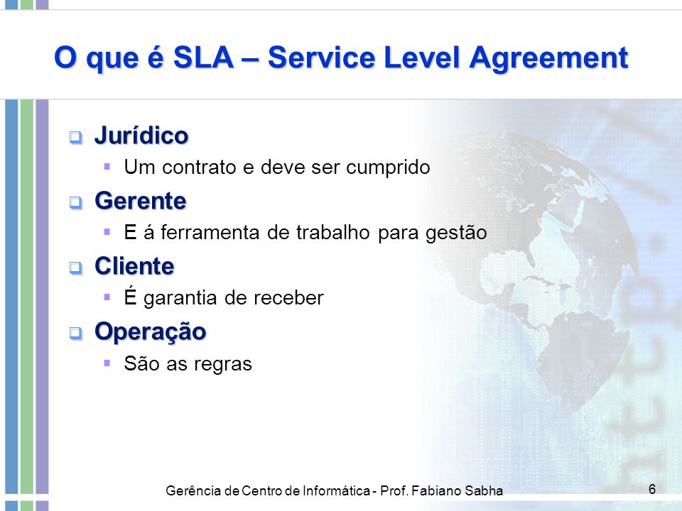 O que é SLA – Service Level Agreement