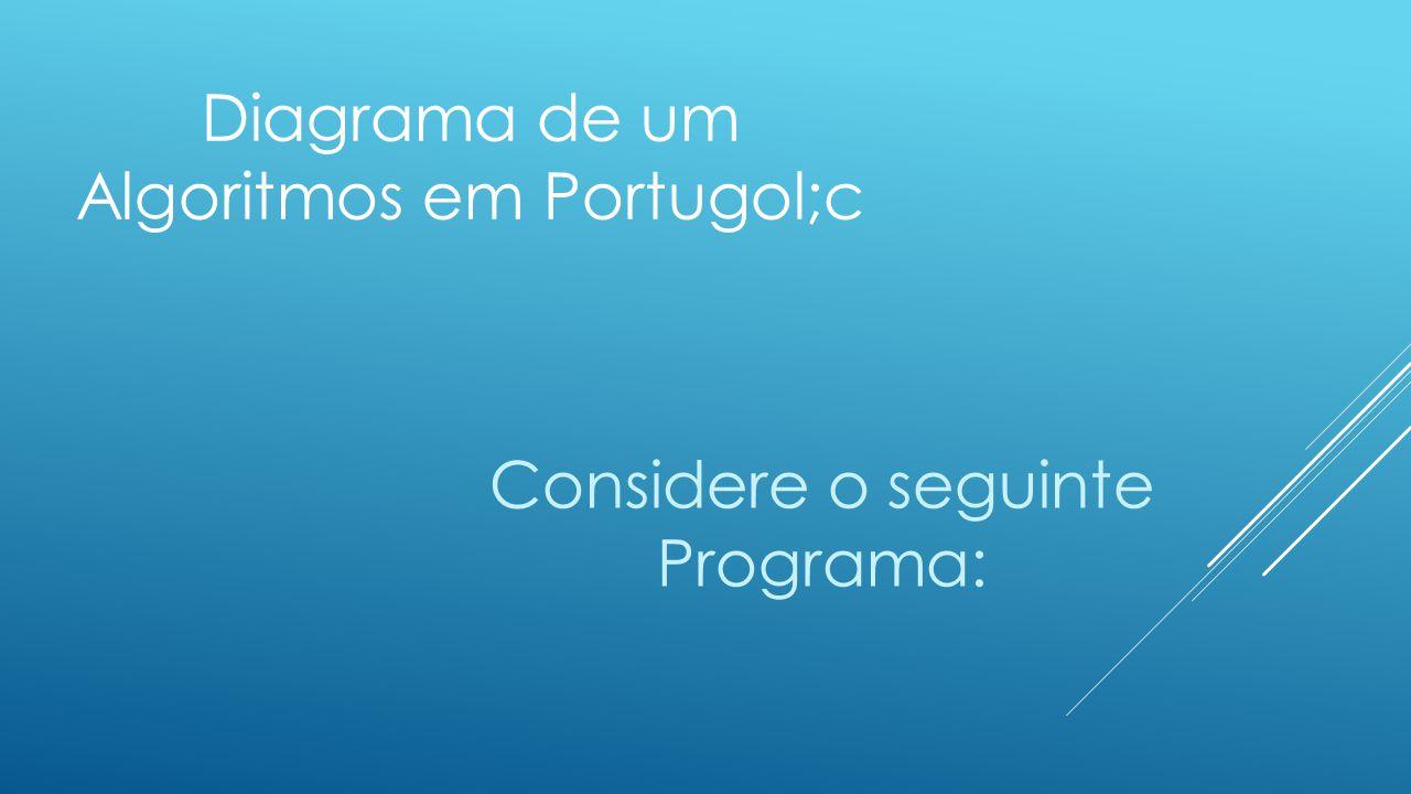 Diagrama de um Algoritmos em Portugol;c