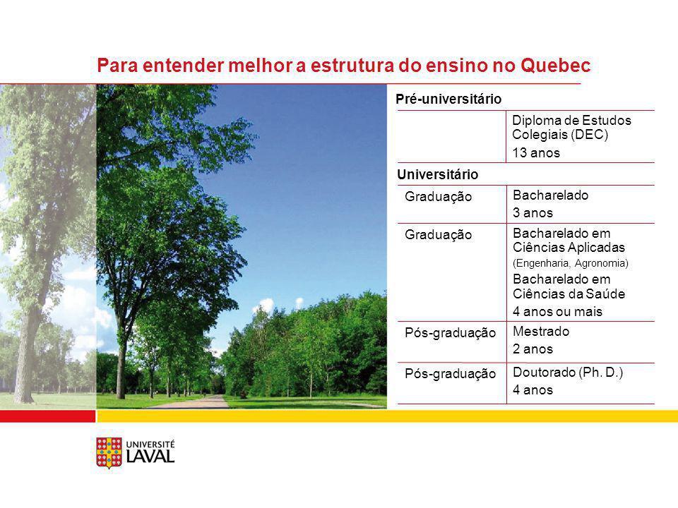 Para entender melhor a estrutura do ensino no Quebec