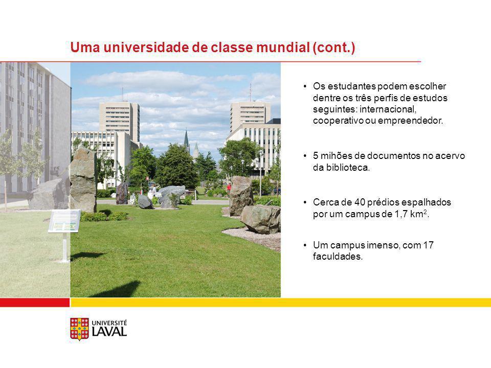 Uma universidade de classe mundial (cont.)