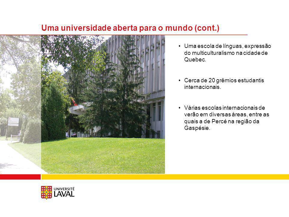 Uma universidade aberta para o mundo (cont.)