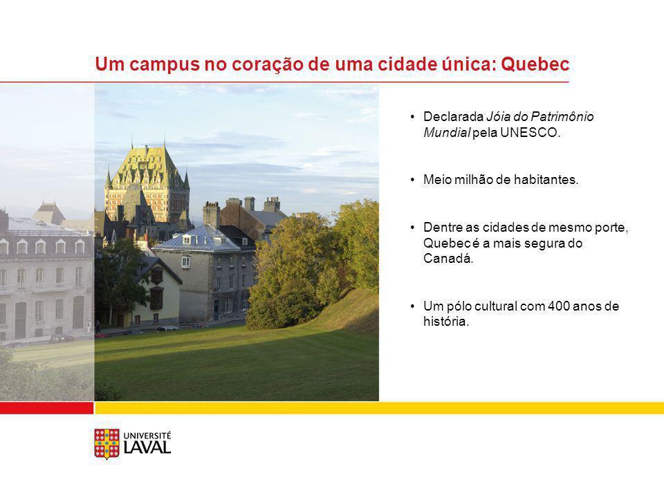 Um campus no coração de uma cidade única: Quebec
